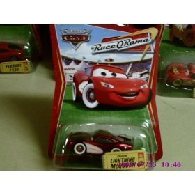 Disney / Pixar CARS Movie 1:55 Die Cast Car Series 4 Race-O-Rama Cruisin' Lightning McQueen - 1