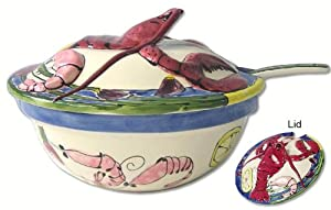 Home ETC Seafood Buffet Tabasco Tureen and Ladle, 3-Piece Set by Home ETC