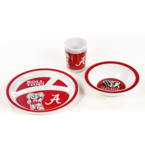 NCAA Alabama Crimson Tide Kid's Dish Set (3-Piece)