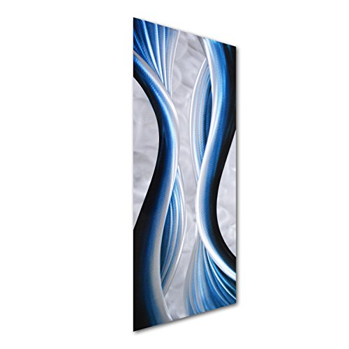 Blue Desire Metal Wall Art - Modern Contemporary Sculpture of 32