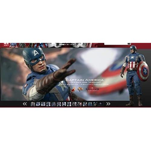 Movie Masterpiece - 1/6 Scale Fully Poseable Figure: Captain America / The Winter Soldier - Captain America (Golden Age Version) [병행수입품]-