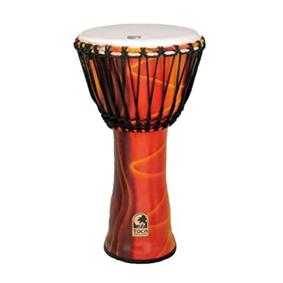Toca Freestyle Rope Tuned 12-Inch Djembe - Fiesta Finish