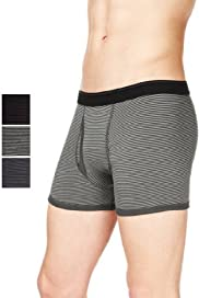 3 Pack Authentic Cool & Fresh Stretch Cotton Feeder Striped Trunks with Stay New [T14-4450S-S]