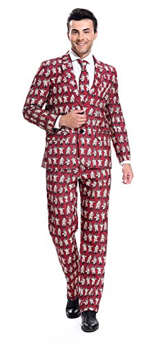 YOU LOOK UGLY TODAY Men's mens Funny Party Suit Christmas Costumes POLE DANCE SANTA-Small