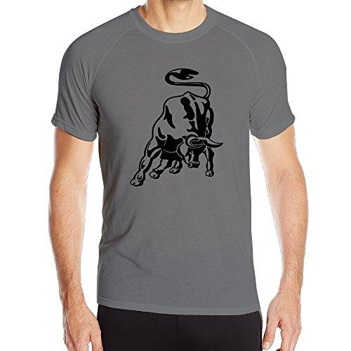 海猫 Lamborghini Logo ランボルギーニ ロゴ メンズ アウトドア スポーツ 半袖 シャツ 優れた吸汗、速乾グレー XXL