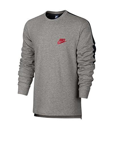 Nike Sudadera con Cierre M Nsw Av15 Top Ls Knit Gris / Negro