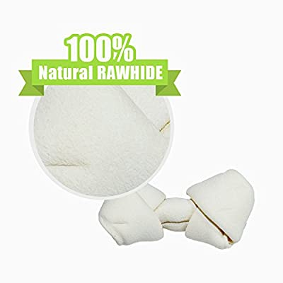 Gpet Rawhide Dog Bones 4-5 Inch Totally Natural Food 5 Count Bag Sold in Bulk, Used Like Toys Chewers for Small and Large Pets Also Helps Aggressive Control in Usa Made for Your Puppy