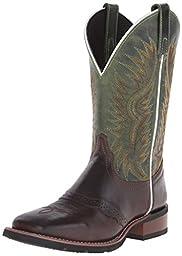 Laredo Men\'s Jhase Western Boot, Brandy/Green, 7 D US