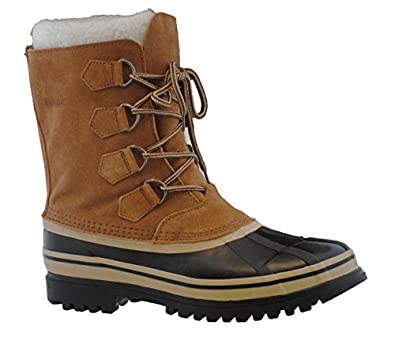 Amazon.com: Khombu Mens Adirondack Suede Duck Boot,Tan,9M: Shoes