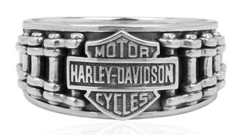 Harley-Davidson .925 Silver Bike Chain Band Ring (13)