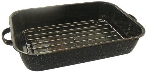 Granite Ware 0534-6 19-Inch Perfect Open Roaster with Flat Rack
