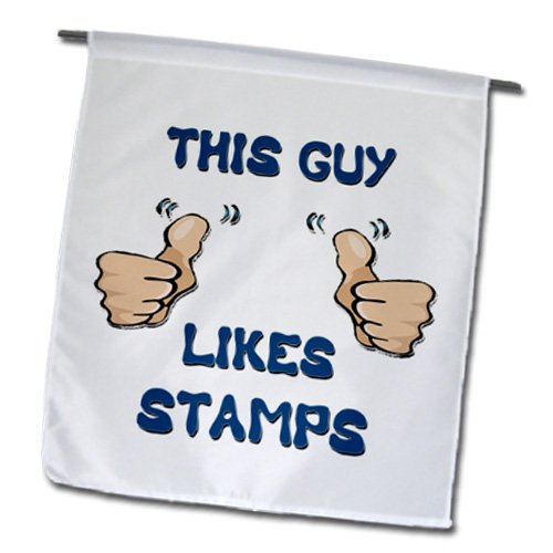 Blonde Designs This Guy Likes With Thumbs - This Guy Likes Stamps - 18 x 27 inch Garden Flag (fl_150476_2)