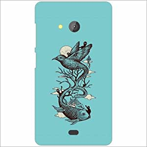 Microsoft Lumia 540 Dual SIM Back Cover - Blue Soother Designer Cases