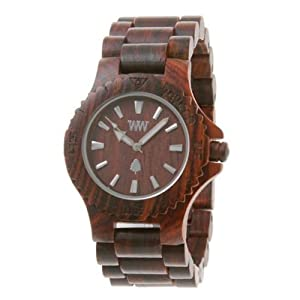 Wewood Men's Date Brown Wooden Watch