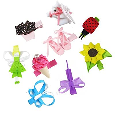 HipGirl Ribbon Sculpture Hair Bow Clips, Barrattes