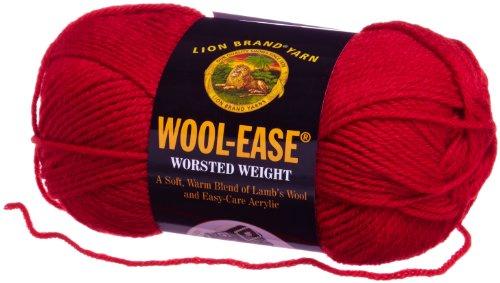 Lion Brand Yarn 620-102B Wool-Ease Yarn, Ranch Red
