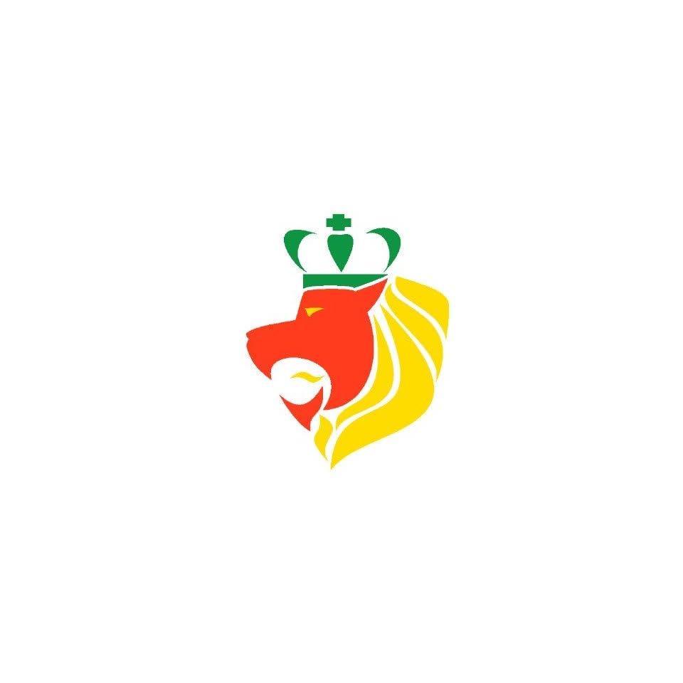 Rasta reggae crowned lion stickers on popscreen