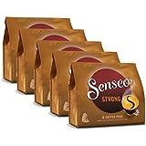 Senseo Kaffeepads Kräftig / Strong Intensiver und Vollmundiger Geschmack Kaffee neues Design 5er Pack 5 x 16 Pads