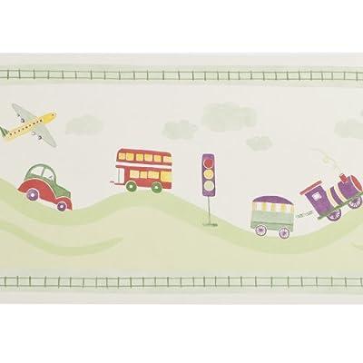 Zoffany Border Wallpaper - Toot Town Green - Cwp02002 from Zoffany