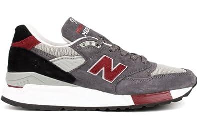 New Balance Men's M998,Grey/Red/Black,US 7 D