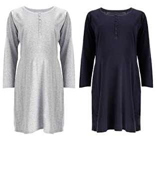 2 Pack Maternity Long Sleeve T-Shirt Nightdresses