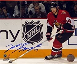 Jason Spezza Signed 8X10 Unframed - Dark Action-H