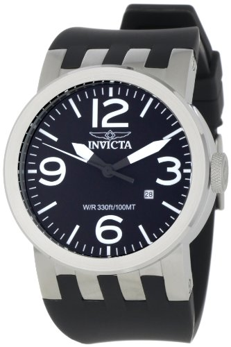 Invicta Men's 0851 Force Collection Black Polyurethane Watch