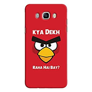 ColourCrust Samsung Galaxy J7 (2016) Mobile Phone Back Cover With Kya Dekh Raha Hai Bay Quirky - Durable Matte Finish Hard Plastic Slim Case