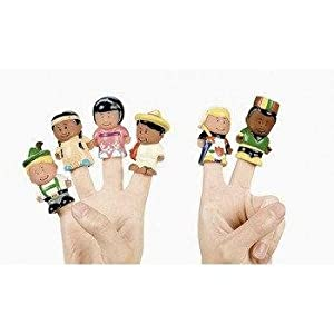 Dozen Kids Around the World Finger Puppets by Fun Express