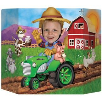 Beistle 57989 Farm Photo Prop, 3-Feet 1-Inch by 25-Inch