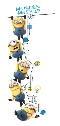 Roommates Rmk2107Gc Despicable Me 2 Growth Chart Peel And Stick Wall Decals (Peel Stick Growth Chart compare prices)