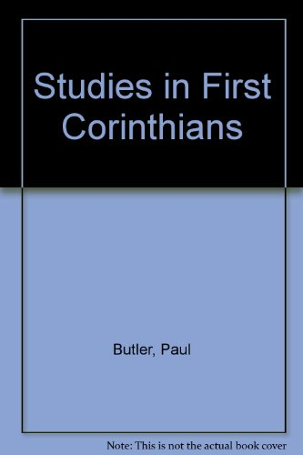 Studies in First Corinthians (Bible study textbook series)