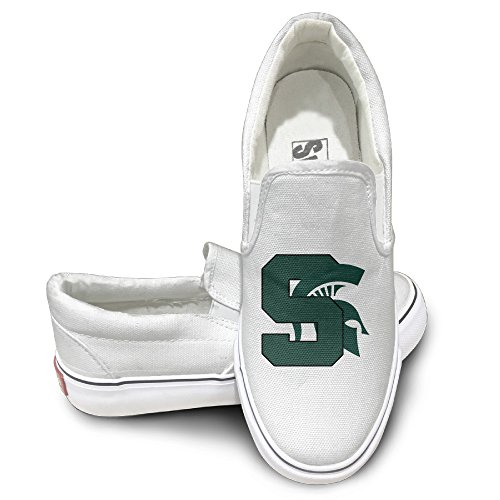 WG Custom Design Sport Shoes Michigan State University MSU Spartans Travel White