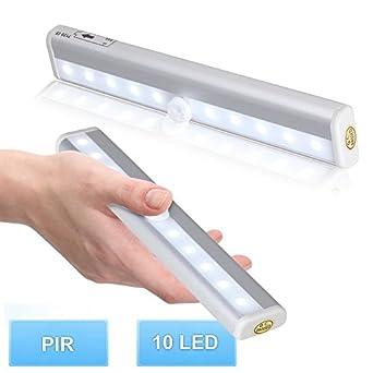 3pcs automatische 10led lichtleiste aluminiume schalen kabellos bewegungsmelder superhelle. Black Bedroom Furniture Sets. Home Design Ideas