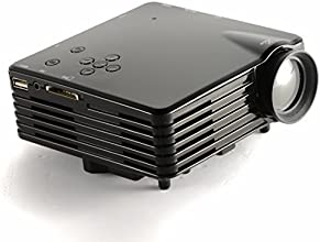Geekdiggreg Mini LED Projector LCD 100Lm Portable home Proyector 480 x 320P Resolution 80 inch USB S