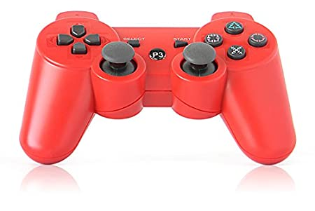 eXuby® Killer Red Bluetooth Wireless Controller Compatible With Sony PS3 And Playstation 3 (Six-Axis And Dual-Shock)