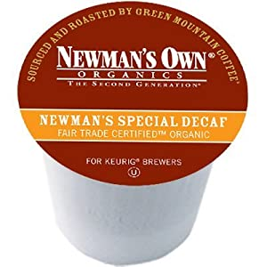 Newman's Own Special DECAF Coffee for Keurig Brewers 24 K-Cups (4 Pack)