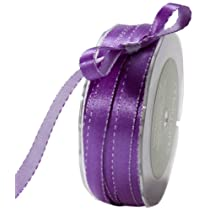 May Arts 3/8-Inch Wide Ribbon Purple and Lavender Satin