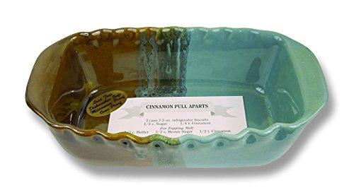 Clay In Motion Handmade Ceramic Loaf Pan - Ocean Tide