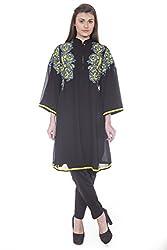 Rinku Sobti Women's Tunic (MAR-A18_Black _Small)