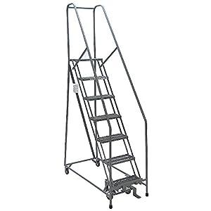 Rolling Ladder Welded Handrail Platform 60in H
