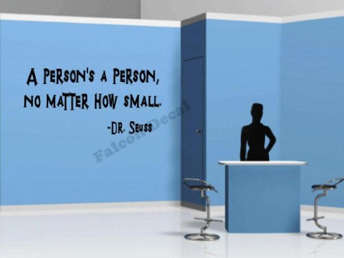 Dr Seuss A Person'S A Person No Matter How Small Vinyl Wall Decal front-200407