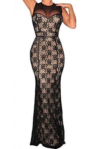 Dearlovers-Women-Formal-Lace-Mesh-Bodycon-Maxi-Party-Dress-Gown