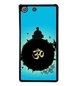 printtech Indian Om Planet Back Case Cover for Sony Xperia M5 Dual E5633 E5643 E5663 , Sony Xperia M5 E5603 E5606 E5653