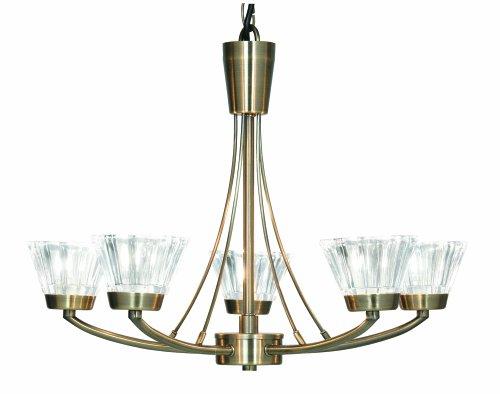 Oaks Lighting 5 Light Lexa Ceiling Fitting, Antique Brass