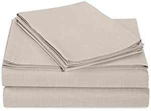 AmazonBasics 200 Thread Count Sheet Set - Queen, Graphite