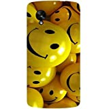 Casotec Smiles Smile Yellow Design Hard Back Case Cover For LG Google Nexus 5