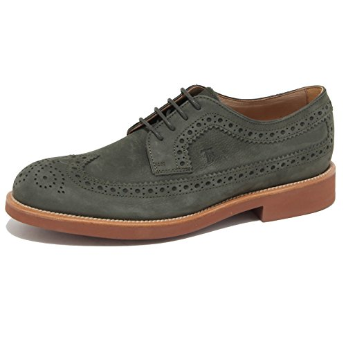 7150N scarpa TOD'S DERBY verde scarpe uomo shoes men [6.5]