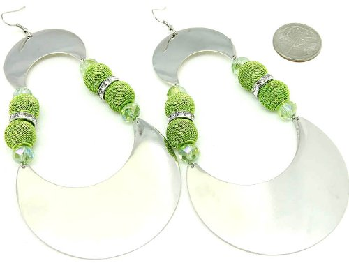 EARRING FISH HOOP METAL GREEN Fashion Jewelry Costume Jewelry fashion accessory Beautiful Charms