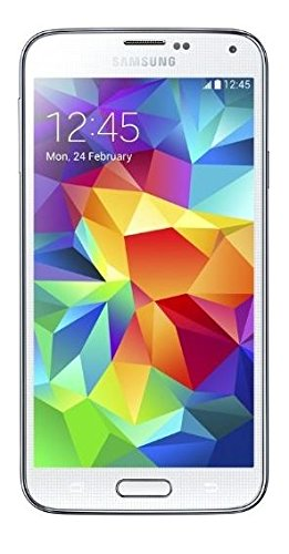 Samsung Galaxy S5 Smartphone, Display 5.1 Pollici, Processore Quad-Core 2,5 GHz, RAM 2GB, Memoria Fotocamera 16MP, Android 4.4, Bianco [Germania]